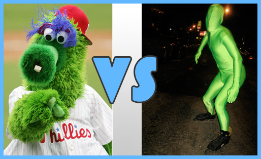 Philly Phanatic v. Green Man