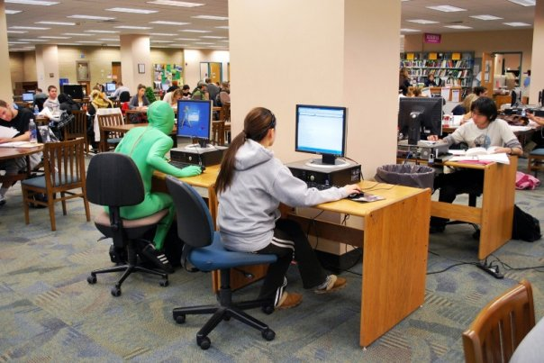 Greenman in the Library